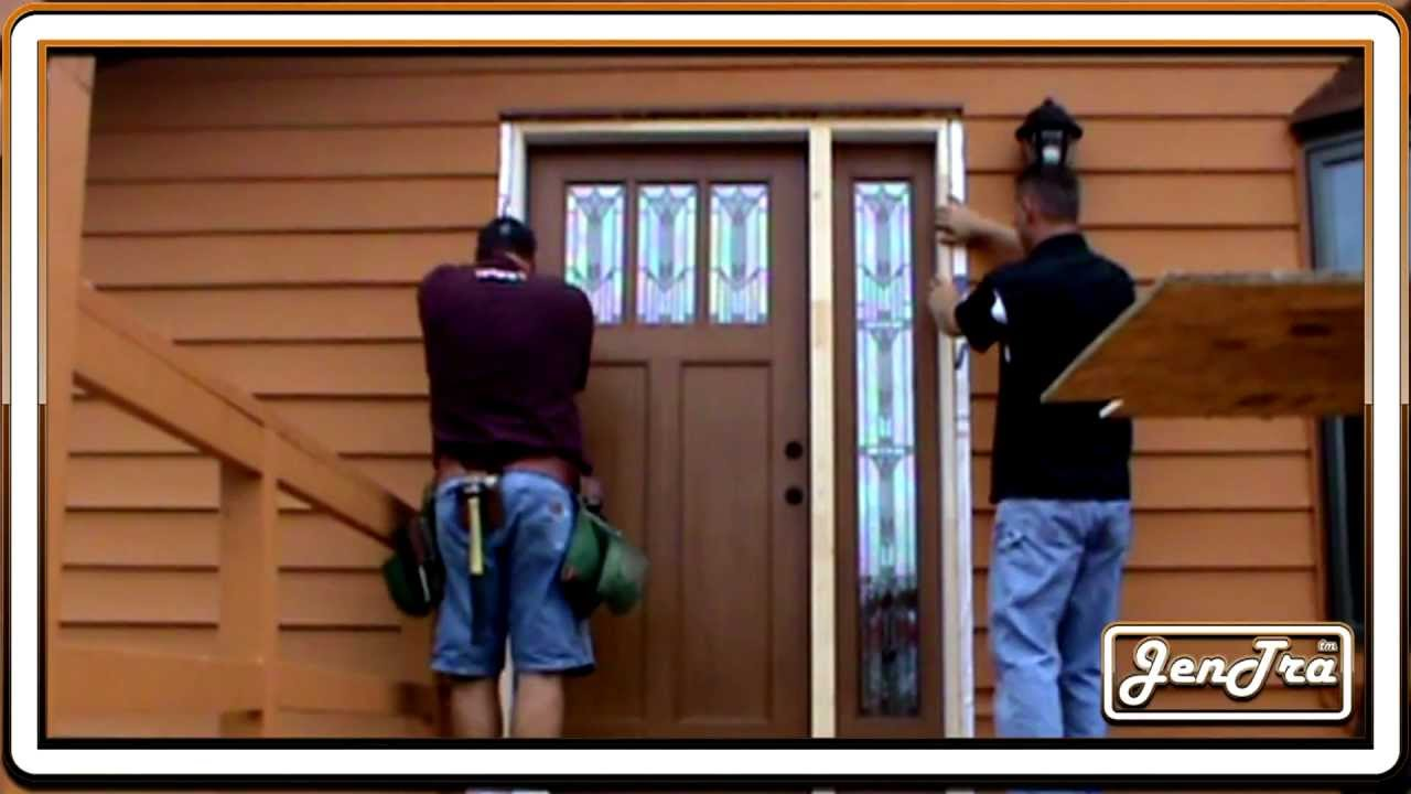 Cheatah Exterior Door With Sidelight Installation Youtube