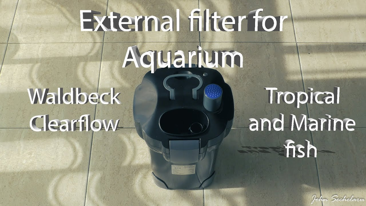 waldbeck clearflow 18uv external filter for aquarium tropical and