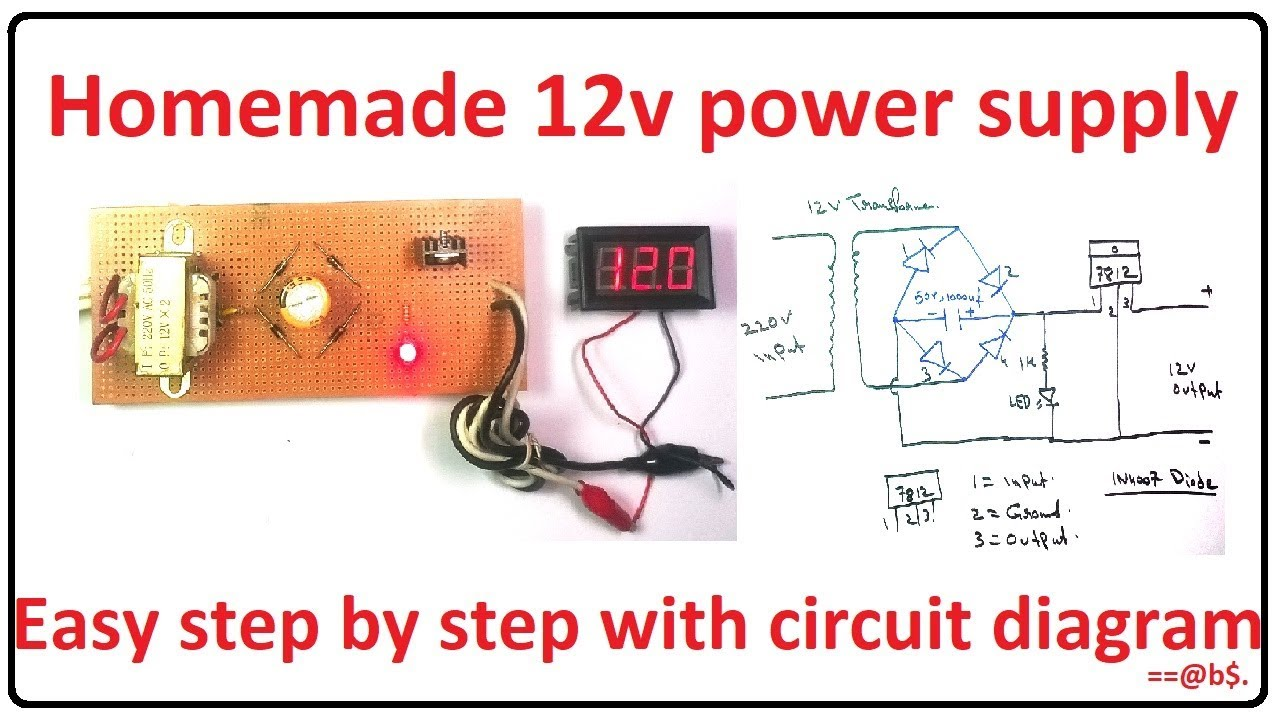 How to make 12v power supply easy at