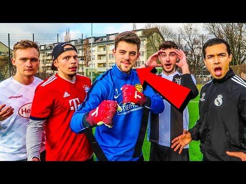 FUßBALL CHALLENGE VS BESTER TORWART AUF YOUTUBE!