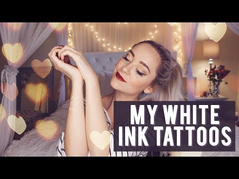 MY WHITE INK TATTOOS! | LifeOfMeganandLiz