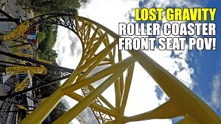 Lost Gravity Roller Coaster POV! AWESOME New Walibi Holland Ride! 2016