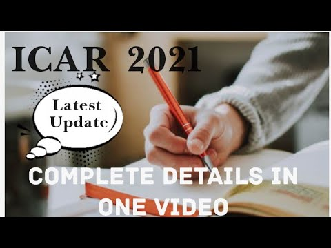 ICAR 2021 WHAT IS ICAR?? COMPLETE DETAILS IN ONE VIDEO MUST WATCH ARCHZ EDU WORLD