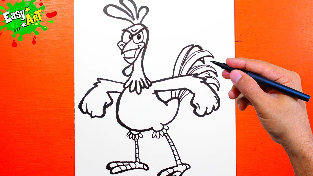 La Gallina Pintadita Y El Gallo Coroco Como Dibujar Un Gallo Youtube