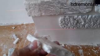 видео Облицовка камина своими руками камнем и плиткой