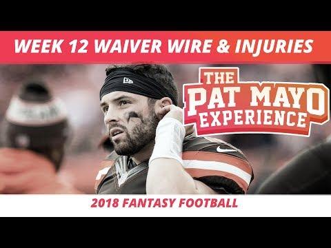 2018 Fantasy Football Week 12 Waiver Wire Rankings Injuries