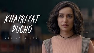 "Here comes the soulful number ""khairiyat"" from movie ""chhichhore."" a beautiful song that will make you revisit your ""college ka pehla pyaar memories."" th..."