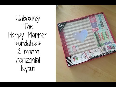 unboxing the happy planner 12 month undated horizontal layout
