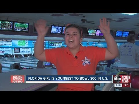 Thumbnail: Florida Girl Youngest to Bowl 300 in US