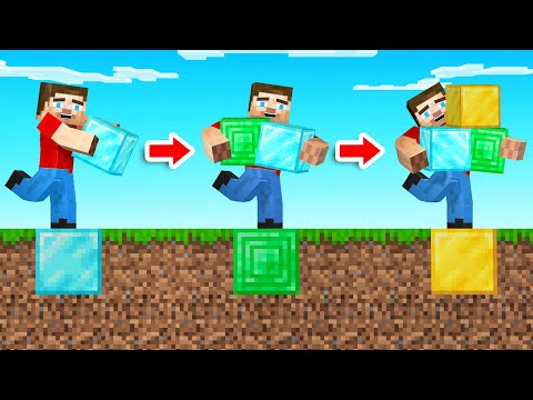 Minecraft But EVERY STEP = GET BLOCK!