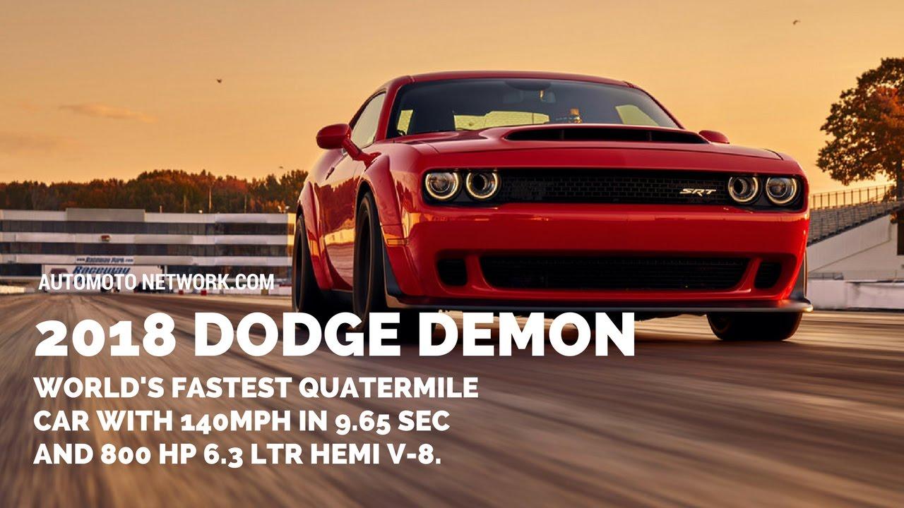 2018 Dodge Challenger SRT Demon | Fastest quarter-mile car in the ...