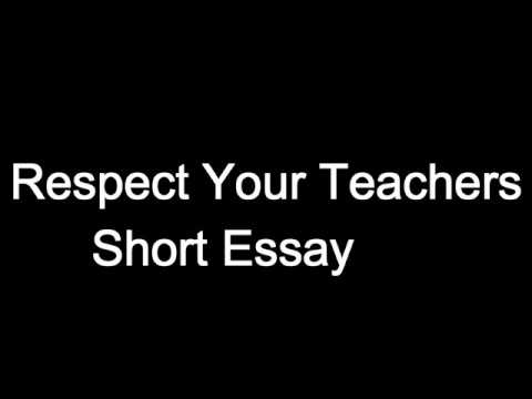 ᐅ Essays on Respect - Free argumentative, persuasive, descriptive and narrative samples and papers