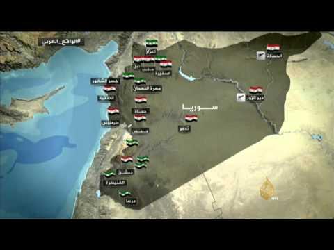 خريطة السيطرة الميدانية في سوريا Youtube