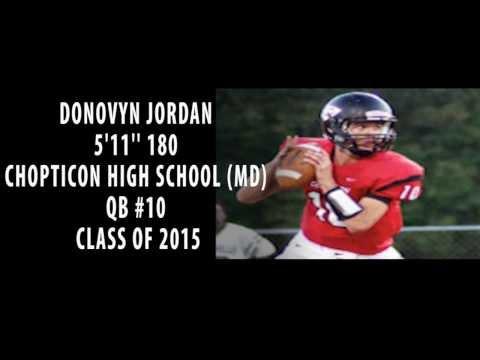 DONOVYN JORDAN 5'11'' 180 QB CHOPTICON HIGH SCHOOL CLASS OF 2015