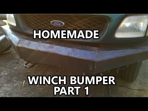 Homemade Bumper with Harbor Freight Welder, Part 1