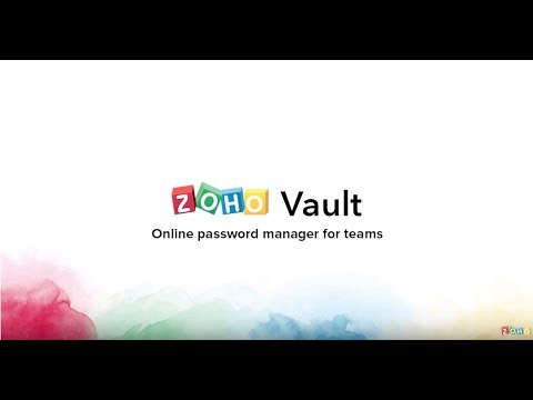 Product Demo - Zoho Vault - Online Password Manager for Teams