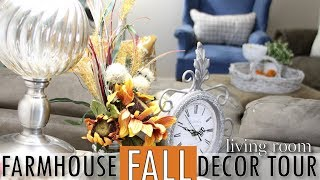 Fall Farmhouse Decor Tour 2018 | Home Decor Tour | Fall Decor | Decorating Ideas | Living Room Ideas