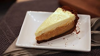 Duffs Sweet Spot: Pumpkin Cream Pie with Gingersnap Crust and Rum Cheesecake Topping