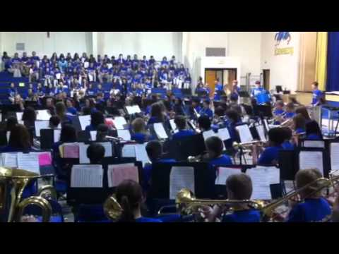 Kennedy middle school band plays carpathia