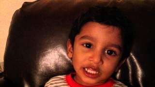 Gautam Singing Suklam baradharam vishnum in telugu