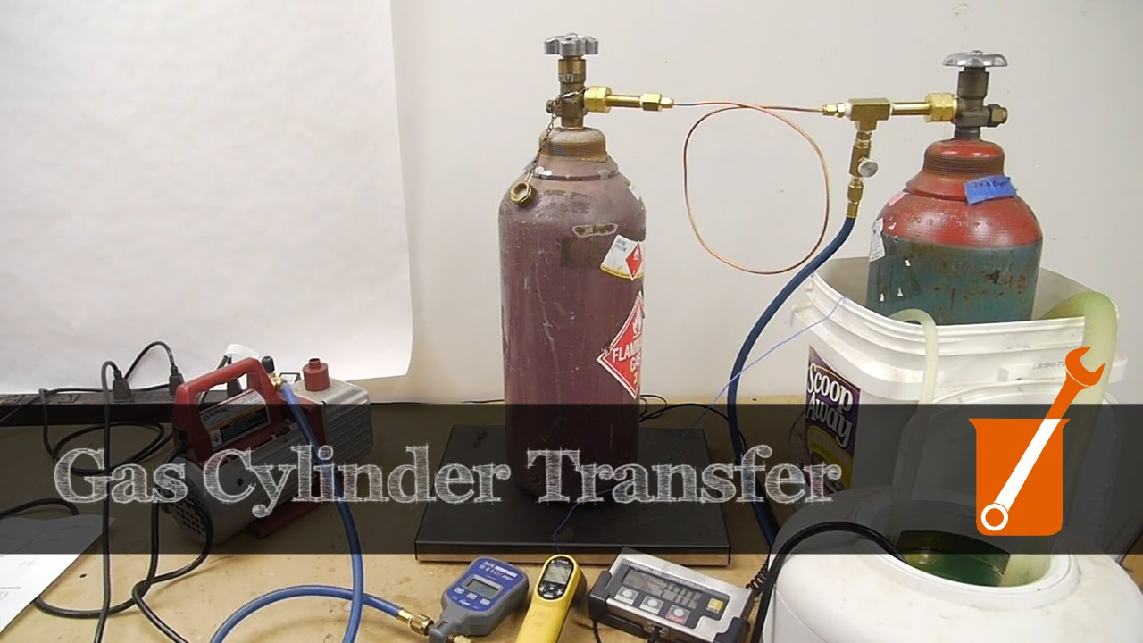 High pressure gas cylinder transfer