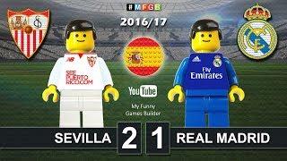 SEVILLA vs REAL MADRID 2-1 • LaLiga 2016 / 2017 ( Highlight Film Lego Football 2016/17 )