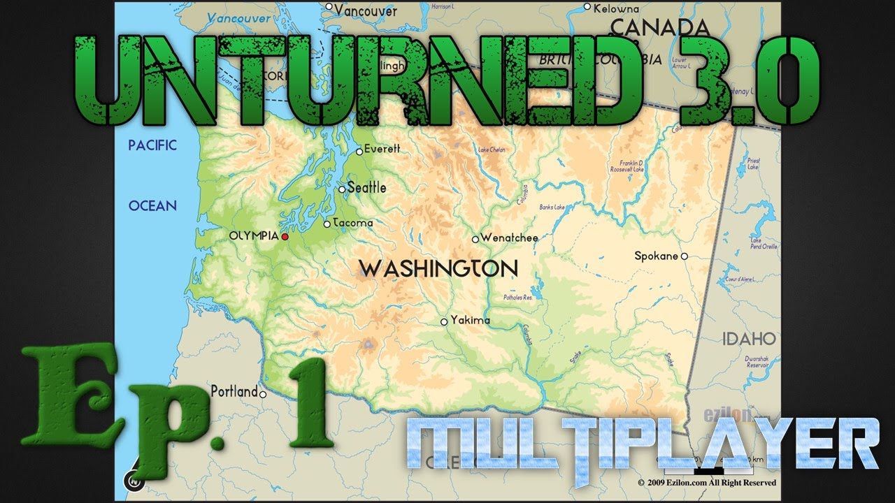 Unturned Seattle Map.Washington Multiplayer Unturned 3 0 Ep 1 Seattle The Bus And