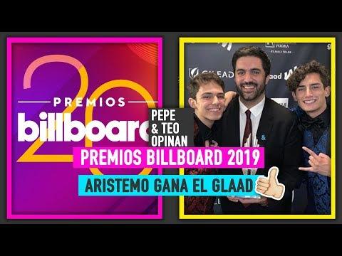 Aristemo gana GLAAD  La Más Draga  Billboard 2019  Pepe y Teo Opinan