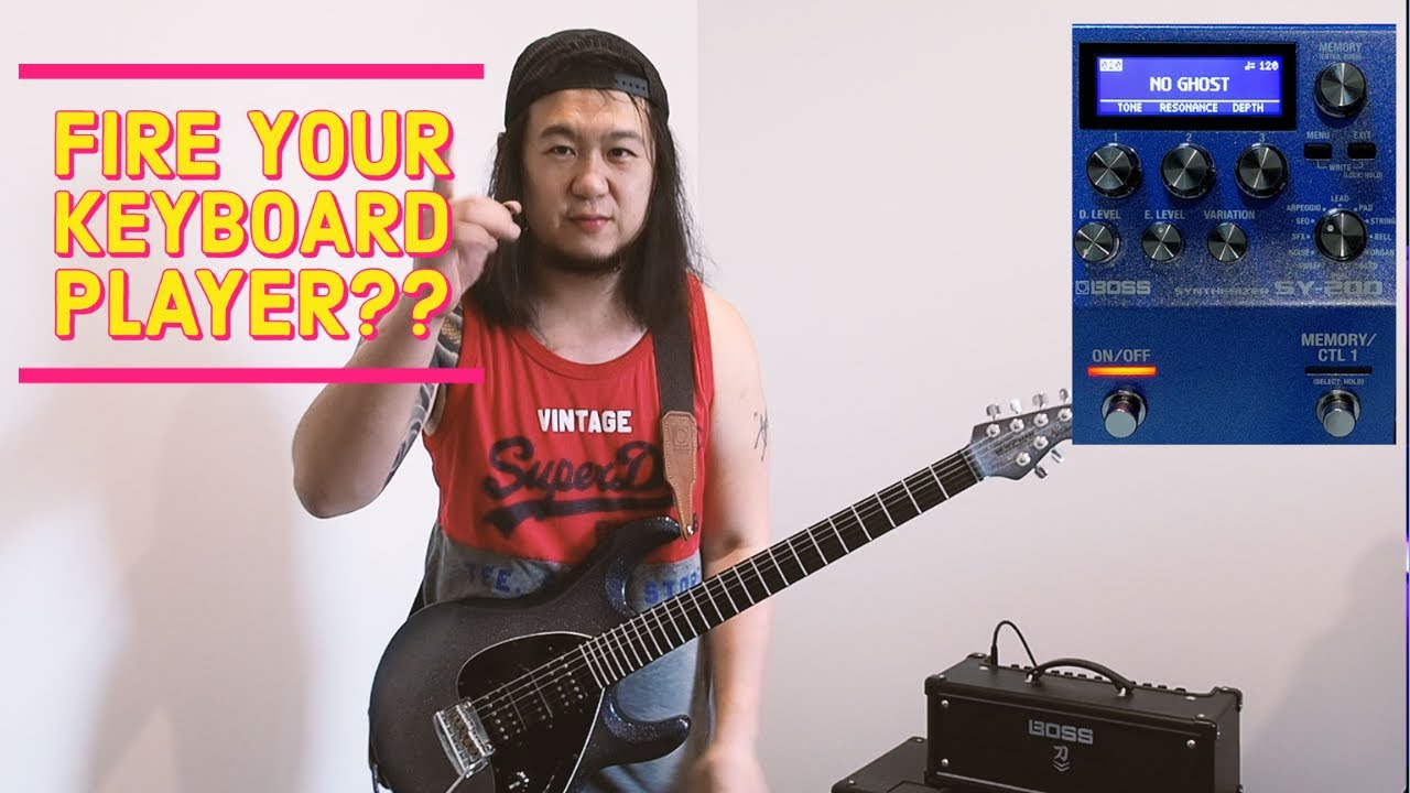 Download 20 Iconic Synth Riffs on Guitar! BOSS SY-200 Synthesizer