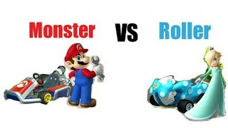 Mario kart 7: Monster tires vs roller.