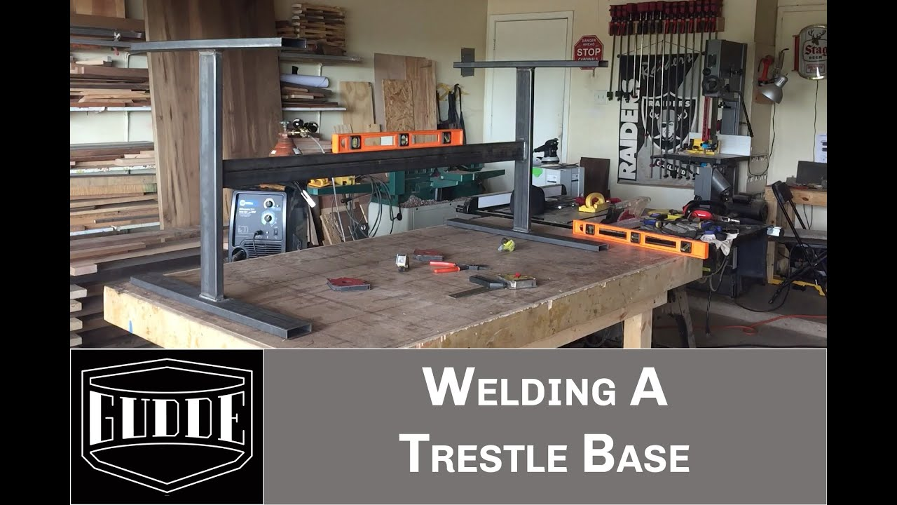 AWESOME WELDING TIPS Simple Step By Step Table Base Welding - Welded table base