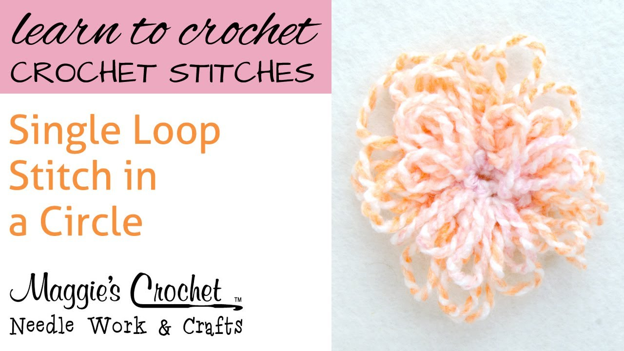 Crochet Single Loop Stitch Circle - YouTube ac7c452cab9