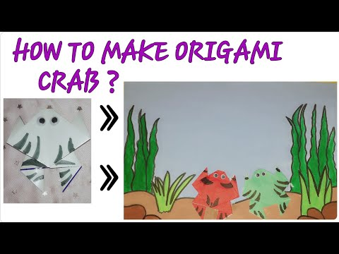 How to make origami paper folding crab|How to make paper folding crab|How to make easy origami crab
