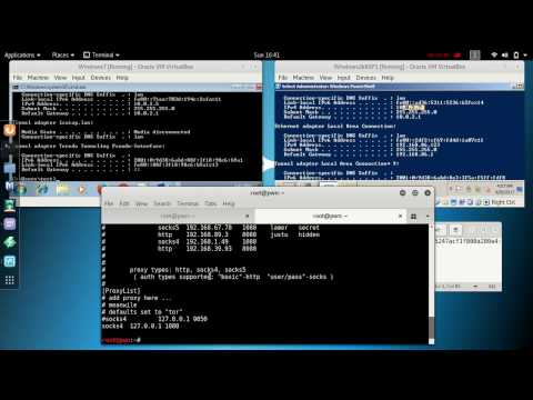 Metasploit Pivoting with proxychains and exploitation using MS17-010