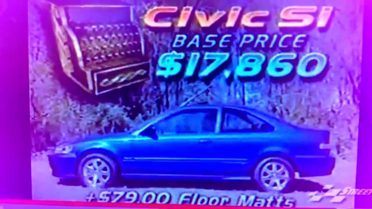 RARE FOOTAGE OFFICIAL REVIEW 19992000 Honda Civic Si EMI  YouTube