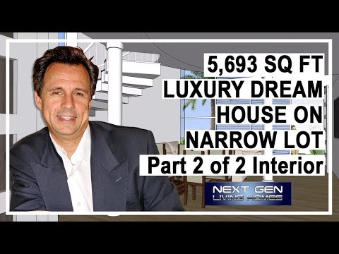 Luxury Dream House Interior on Narrow Lot 2 of 2