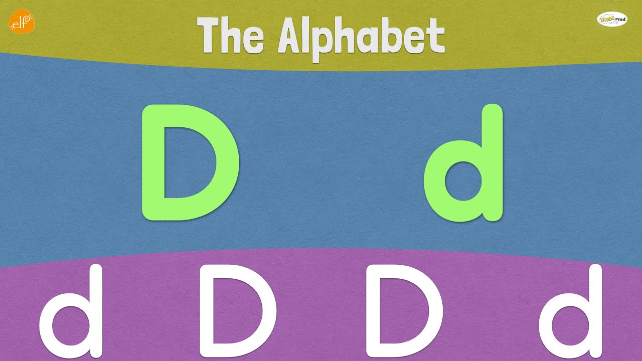 Letter D | Early Phonics | Think Read Write | ELF Learning ...