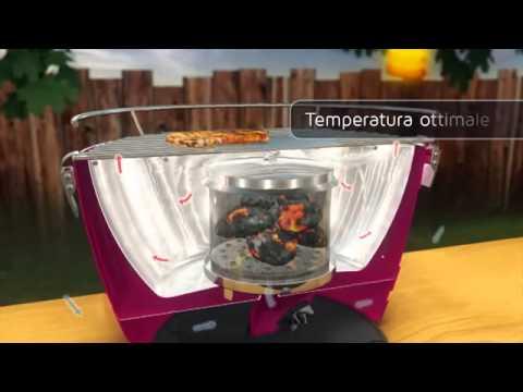 lotus grill video 3d dimostrativo barbecue senza fumo per. Black Bedroom Furniture Sets. Home Design Ideas