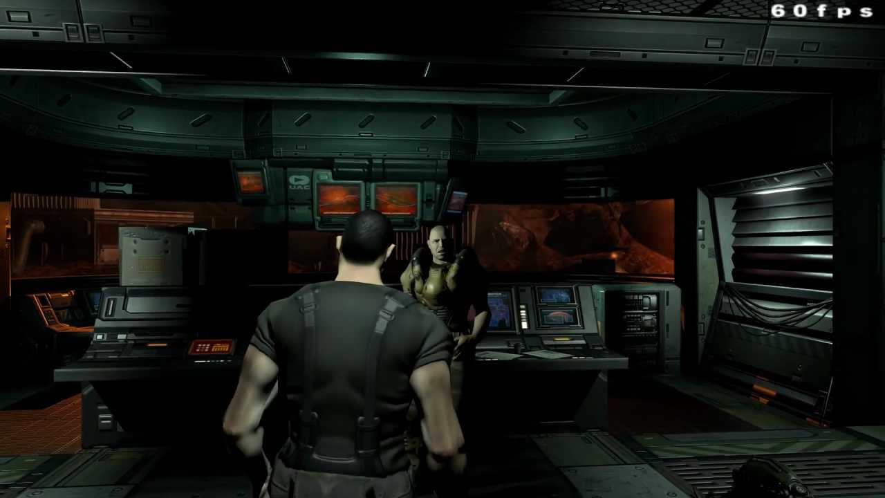 DOOM 3 High Res Textures SikkMod 11 Gameplay 1080p HD