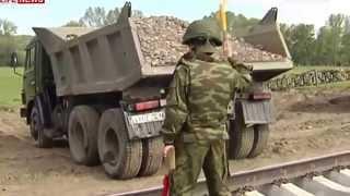 Жд войска России провели учения по строительству моста через Енисей