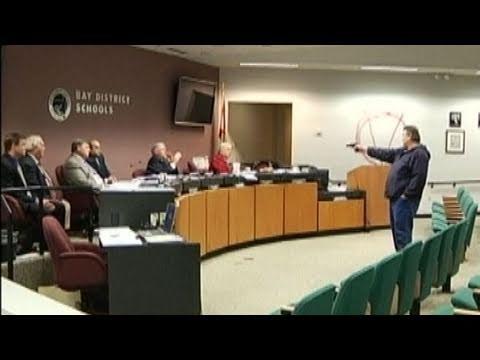 Caught on Tape: Gunman Takes School Board Hostage