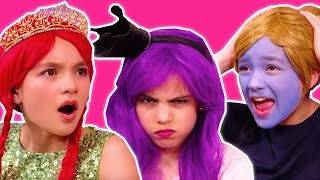 3 MARKER CHALLENGE! ✍️ Malice Pranks Olivia & Isabella - Princesses In Real Life | Kiddyzuzaa