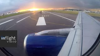 ATC: Beautiful Sunset Departure from London Heathrow (British Airways A319)