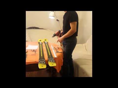 Cum se monteaza acasa legaturi de tura (Hagan ZR/ATK Race SL)  pe skiuri
