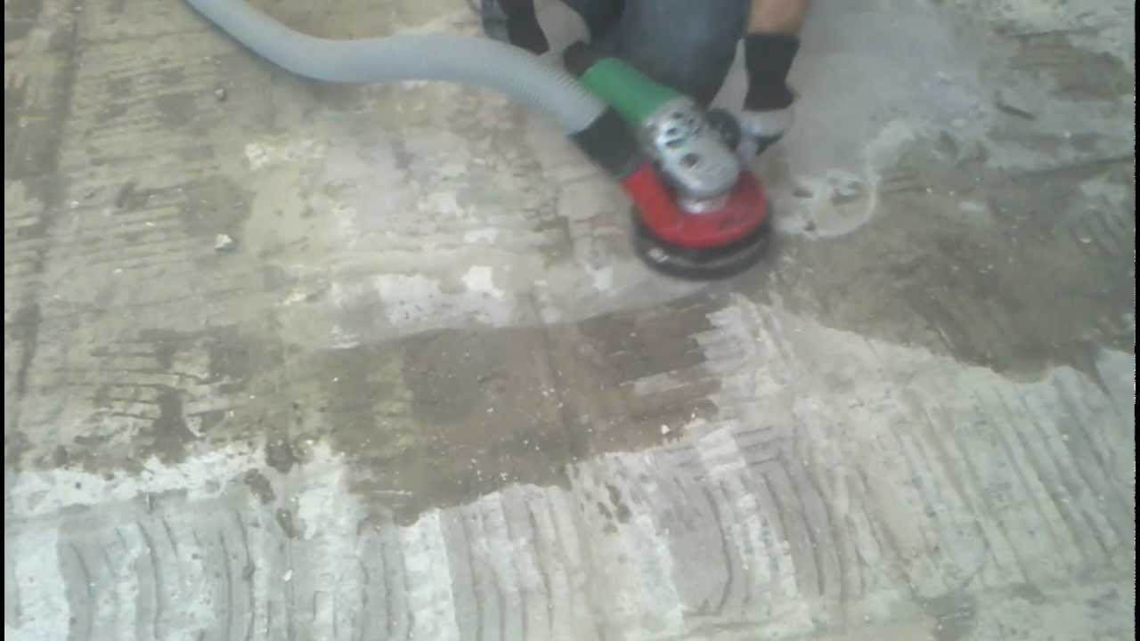 Thin Set Removal Grinding Thin Set Youtube