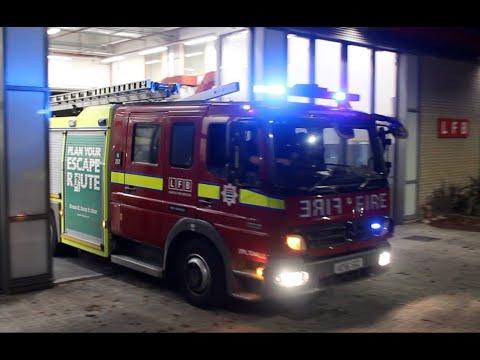London Fire Brigade - Mk2 Pump H252 LFB West Norwood responding