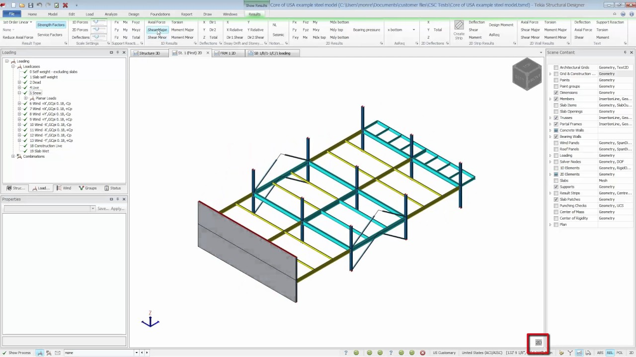 Tuesday Tips Tekla Structural Designer Reviewing Analysis Results