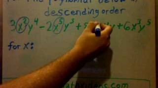 How to put a polynomial in descending order