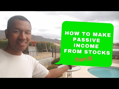How to earn passive income from stocks Part 2