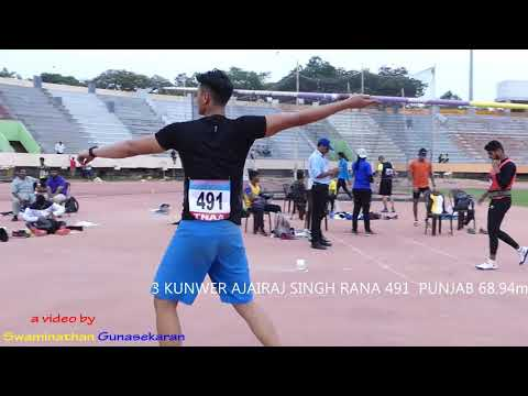 JUNIOR BOY'S JAVELIN THROW FINAL.16th FED CUP NATIONAL JR ATHLETICS CHAMPIONSHIPS 2018
